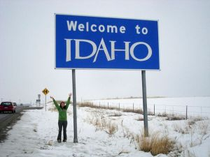 141-My first pic next to the Idaho sign after all thes